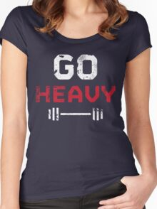 Go Heavy Women's Fitted Scoop T-Shirt