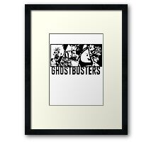 Ghostbusters Comic Book Style Framed Print