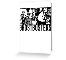 Ghostbusters Comic Book Style Greeting Card