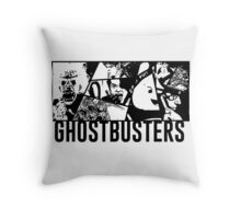 Ghostbusters Comic Book Style Throw Pillow