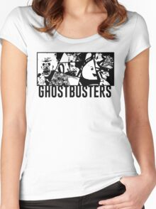 Ghostbusters Comic Book Style Women's Fitted Scoop T-Shirt