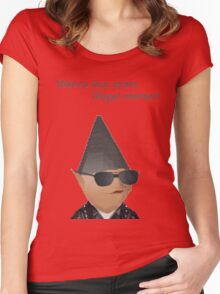 Gnome Child - Illegal Memes Women's Fitted Scoop T-Shirt