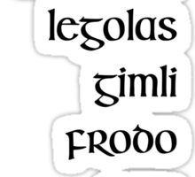 Lord of the Rings Fellowship Sticker