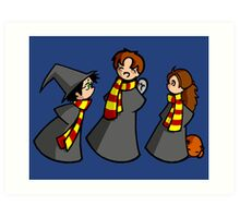 Harry, Ron and Hermione Art Print