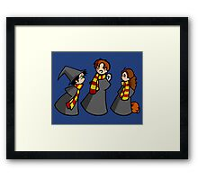 Harry, Ron and Hermione Framed Print