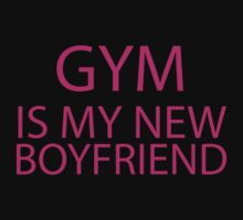 Gym Is My New Boyfriend (pink ink) Workout Tee. Crossfit Tee. Exercise Tee. Weightlifting Tee. Running Tee. Fitness by Max Effort
