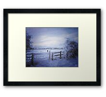 View with a fence Framed Print