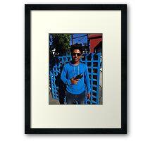 Amar's Smart New English Sunglasses Framed Print