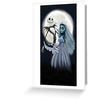 Tim burton mash up Greeting Card