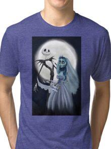 Tim burton mash up Tri-blend T-Shirt
