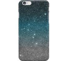 Pretty Faux Glitter Gradient in Black, Blue, White iPhone Case/Skin