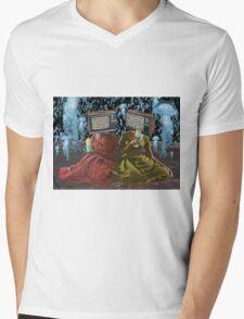 Color Blind Mens V-Neck T-Shirt