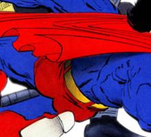 Batman punches Superman Sticker