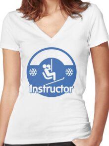 Apres Ski Instructor Women's Fitted V-Neck T-Shirt