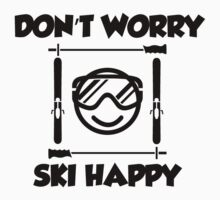 Don't worry, ski happy Baby Tee