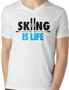Skiing is life Mens V-Neck T-Shirt