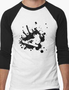 Snowboarder Style Men's Baseball ¾ T-Shirt