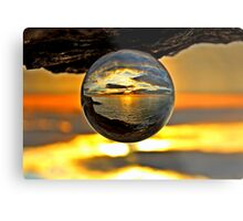 Gorey sunset Metal Print