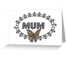 Decorative Butterfly Mum Greeting Card