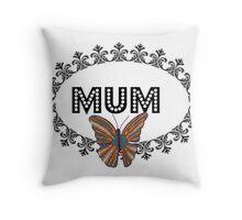 Decorative Butterfly Mum Throw Pillow