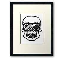 Winter skull Framed Print