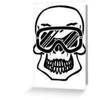 Winter skull Greeting Card