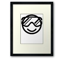 Winter smiley Framed Print