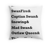 Once Upon a Time Ships Throw Pillow