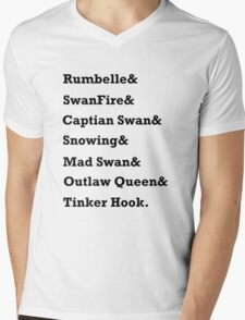 Once Upon a Time Ships Mens V-Neck T-Shirt