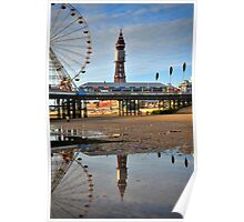 Blackpool Reflections Poster