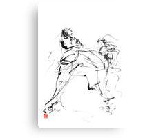 Karate martial arts kyokushinkai japanese kick oyama ko knock out japan ink sumi-e Metal Print