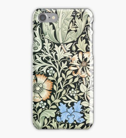 William Morris Floral Paper Pink Blue White iPhone Case/Skin