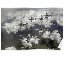 D-Day Mustangs Poster