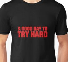 Try Hard - Red with Cracks Unisex T-Shirt
