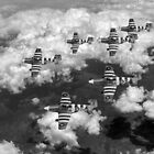 D-Day Mustangs black and white version by Gary Eason