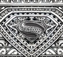Hope sign Black and white Aztec Pattern by Galih Sanjaya Kusuma wiwaha