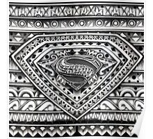 Hope sign Black and white Aztec Pattern Poster