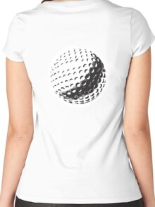GOLF, GOLFING, SPORT, Golf Ball, NAVY BLUE Women's Fitted Scoop T-Shirt