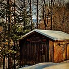 Winter Barn on the Mountain by PineSinger