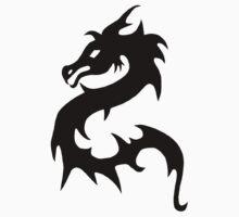 Black Oriental Dragon Tee Kids Clothes