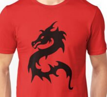 Black Oriental Dragon Tee Unisex T-Shirt