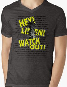 HEY HEY! Mens V-Neck T-Shirt