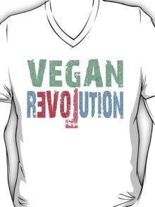 VEGAN REVOLUTION - vegan, vegetarian, animal rights, cruelty to animals T-Shirt
