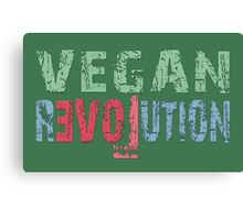VEGAN REVOLUTION - vegan, vegetarian, animal rights, cruelty to animals Canvas Print