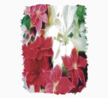 Mixed color Poinsettias 1 Angelic Kids Tee