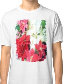 Mixed color Poinsettias 1 Angelic Classic T-Shirt