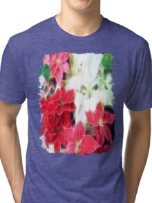 Mixed color Poinsettias 1 Angelic Tri-blend T-Shirt