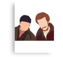 Harry and Marv, Home Alone Faceless Canvas Print