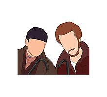 Harry and Marv, Home Alone Faceless Photographic Print
