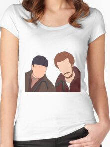 Harry and Marv, Home Alone Faceless Women's Fitted Scoop T-Shirt